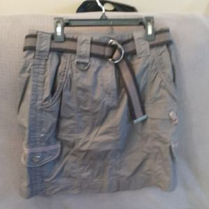 Skirt woman's cargo gray skirt,sz4 lots of pockets